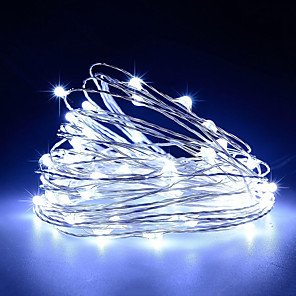 cheap Smart Wristbands-USB Operated Copper Wire Starry Lights 10m 100 LED String USB DC 5V for Chritsmas Wedding Halloween Patio Party 1pc