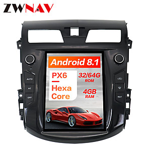 cheap Car DVD Players-ZWNAV 10.4inch 1DIN 4GB 64GB Tesla style Android 8.1 Car GPS Navigation Car DVD Player Car multimedia Player For NISSAN TEANA 2013