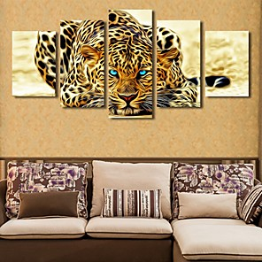 cheap Prints-5 Panels Modern Canvas Prints Painting Home Decor Artwork Pictures DecorPrint Rolled  Stretched  Modern Art Prints  Animals Cartoon