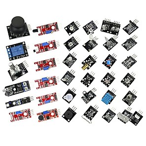 cheap Synthetic Lace Wigs-Smart Electronics 37 in 1 Sensor Module Kit for users of for Arduino