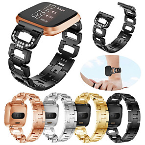 cheap Smartwatch Bands-Watch Band for Fitbit Versa / Fitbit Versa Lite / Fitbit Versa 2 Fitbit Sport Band / Modern Buckle / Jewelry Design Stainless Steel Wrist Strap for Fitbit Versa 2