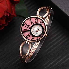 cheap Quartz Watches-Women's Quartz Watches Fashion Silver Rose Gold Alloy Chinese Quartz Golden+Black Golden+White White+Pink Adorable 1 pc Analog One Year Battery Life
