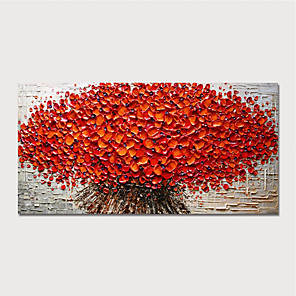 cheap Still Life Paintings-Hand Painted Canvas Oilpainting Abstract Tree by Knife Home Decoration with Frame Painting Ready to Hang