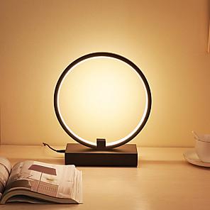 cheap Table Lamps-Table Lamp Desk Lamp LED Simple LED power supply For Living Room Bedroom Aluminum 85-265V White Black