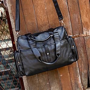 cheap Women's Boots-Sports PU Zipper Travel Bag Solid Color Outdoor Black / Brown / Dark Blue / Unisex / Fall & Winter