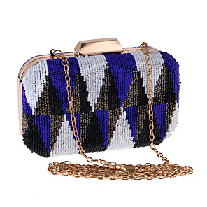 cheap Clutches & Evening Bags-Women's Chain Polyester Evening Bag Color Block Yellow / Orange / Blue