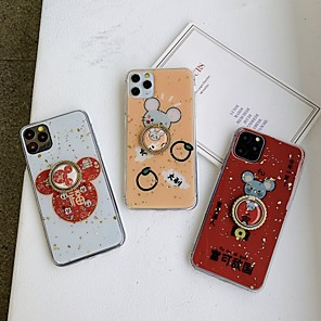cheap Prints-Case For Apple iPhone 11 / iPhone 11 Pro / iPhone 11 Pro Max Ring Holder / Pattern / Glitter Shine Back Cover Cartoon / Glitter Shine TPU