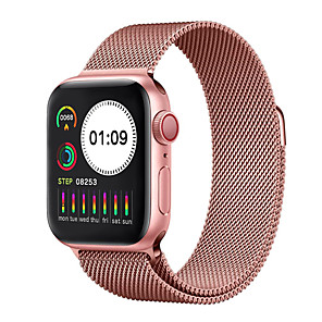 cheap Smartwatches-W5.0 Stainless Steel Fitness Tracker for Apple/ Samsung/ Android Phones, 1.54-inch Smartwatch Support Blood Pressure/ Heart Rate Monitor