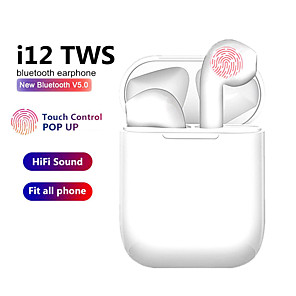 cheap TWS True Wireless Headphones-i12 TWS Wireless Headset Bluetooth 5.0 Touch Sport Earphones Stereo For iPhone Xiaomi Huawei Samsung Android Phone