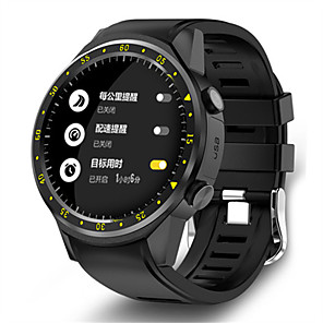 cheap Smartwatches-KING-WEAR F1 Men's Smartwatch Android iOS Bluetooth Waterproof GPS Heart Rate Monitor Blood Pressure Measurement Camera Timer Pedometer Call Reminder Activity Tracker Sleep Tracker