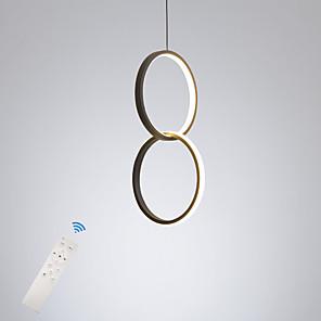 cheap Pendant Lights-LED20W Mini Pendant Light Aluminum Circle / Mini Painted Finishes Black White Frame for Bedroom Entry Dinning Room Modern 110-120V / 220-240V