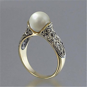 cheap Wedding Wraps-Women's Ring Pearl 1pc Silver Platinum Plated Alloy Stylish Daily Jewelry Cute