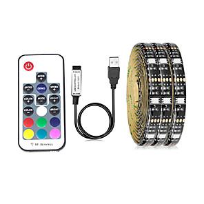 cheap LED String Lights-5m Flexible LED Light Strips RGB Tiktok Lights TV Background Lights 150 LEDs SMD5050 10mm 1 17Keys Remote Controller 1 set Multi Color Waterproof USB Self-adhesive 5 V