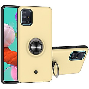 cheap Samsung Case-Case For Samsung Galaxy A10/Galaxy A30/Galaxy A50 Two-in-one Ring Holder Gyro decompression Back Cover Solid Colored TPU / PC For Galaxy A51/A71/A20/A40/A30S/A50S/M10/A60