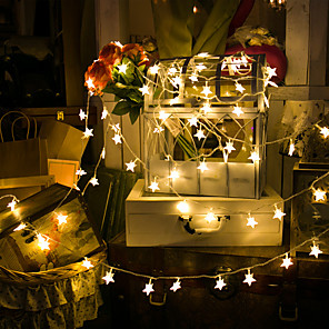 cheap LED String Lights-LED Star Light String Battery Ball Small Lantern Flashing String Lights Christmas Room Curtain Lights Ins Birthday Decoration
