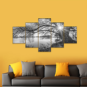 cheap Abstract Paintings-AMJ Hot Selling Lakeside Scenery Puppet Painting Living Room Sofa Background Wall Decoration Canvas Picture Frameless Painting Core