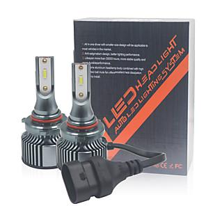 cheap Car Fog Lights-2PCS H4 Car Led Headlight H1 H4 H11 9005 HB3 H7 9012 Led Bulb CSP 10000LM 6000K Mini Size Car Headlight Bulb Led White