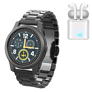 cheap Smartwatches-P12 Stainless Steel Fitness Tracker for IOS/Android Phones, Sports Smartwatch Support Notify/Heart Rate Monitor