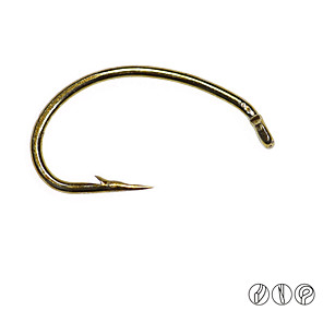 cheap Fishing Hooks-100 pcs Worm Hooks Fishing Hooks Thin Hang-Nail / Curved Point Fly Fishing / Freshwater Fishing / Lure Fishing Carbon Steel
