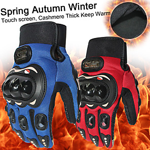 cheap Car DVD Players-New Thick Keep Warm Full Finger Motorcycle Gloves Motocross Luvas Gants Guantes Moto Protective Gears Glove Black Blue Red Color