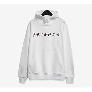 cheap Clutches & Evening Bags-Women's Hoodie Color Block / Letter Casual / Street chic White Black Red Blushing Pink Gray S M L XL XXL