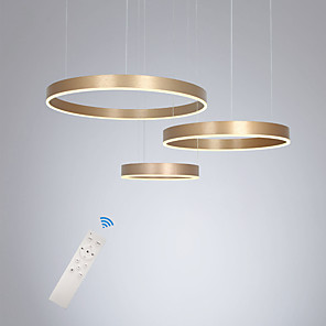cheap Island Lights-LED90W Pendant Light Modern Lamps Gold Painted Aluminum Circle Lighting for Dinning Bed Living Room
