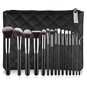 cheap Makeup Brush Sets-Professional Makeup Brushes 15pcs Professional Cute Full Coverage Adorable Comfy Artificial Fibre Brush Plastic for Eyeliner Brush Blush Brush Foundation Brush Makeup Brush Eyeshadow Brush