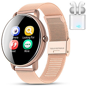 cheap Smartwatches-Indear M9  Women Smart Bracelet Smartwatch BT Fitness Equipment Monitor Waterproof with TWS Bluetooth Wireless Headphones Music Headphones for Android Samsung/Huawei/Xiaomi iOS Mobile Phone
