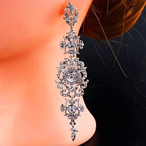 cheap Earrings-Women's Drop Earrings Dangle Earrings Pear Cut Drop Fashion Elegant Earrings Jewelry Silver For Wedding Party Anniversary Prom 1 Pair