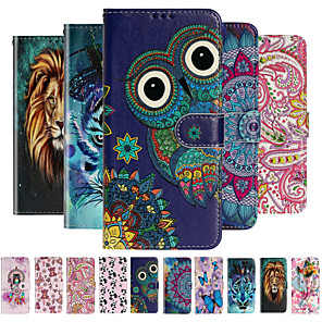 cheap Samsung Case-Case for Samsung scene map Samsung Galaxy S20 S20 Pro S20 Ultra cartoon flower pattern varnish embossed PU leather material card holder lanyard all-inclusive drop-proof mobile phone case