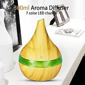cheap Disinfection & Sterilizer-300ml Mini Air Humidifier Essential Oil Diffuser LED Lights Electric Aromatherapy USB Humidifier Car Aroma Diffuser