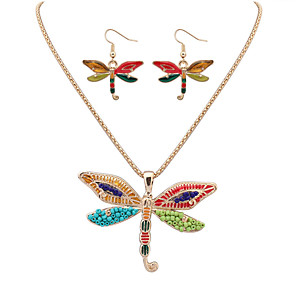 cheap Jewelry Sets-Women's Jewelry Set Dragonfly Cute Resin Earrings Jewelry Gold For Festival
