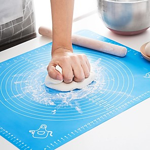 cheap Kitchen Utensils & Gadgets-Silicone Baking Mat Thickening Flour Rolling Scale Mat Kneading Dough Pad Baking Pastry Rolling Mat Bakeware Liners