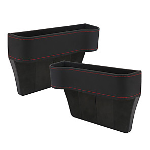 cheap Car Organizers-1 pair PU Seat Crevice Storage Box Bag Space storage box Seat Pocket for Wallet Phone Coins Cigarette Keys Cards For Universal