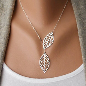 cheap Necklaces-Women's Choker Necklace Necklace Friends European Romantic Casual / Sporty Sweet Chrome Gold Silver 48 cm Necklace Jewelry 1pc For Street Festival
