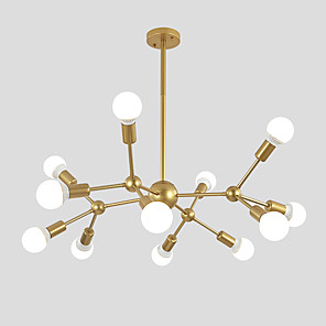 cheap Pendant Lights-Chandelier Ambient Light Painted Finishes Metal Sputnik Design, Cluster Design 110-120V / 220-240V
