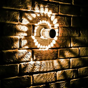 cheap Indoor Wall Lights-2pcs RGB Spiral Hole LED Wall Light Effect Wall Lamp With Remote Controller Colorful Wandlamp For Party Bar Lobby KTV Home Decoration