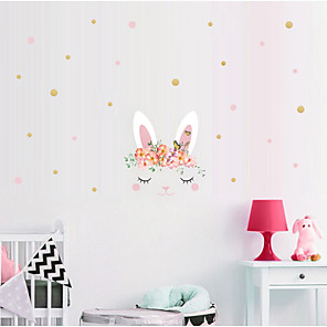 cheap Pillow Covers-Happy Easter bunny egg Decorative Wall Stickers - Plane Wall Stickers Holiday Indoor