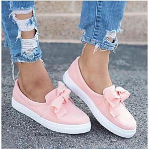 hesapli Kadın Düz Ayakkabıları ve Makosenleri-Kadın's Spor Ayakkabısı Creepers Yuvarlak Uçlu PU İlkbahar & Kış / Yaz Pembe / Siyah / Gri