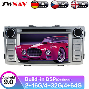 cheap Cell Phones-ZWNAV 6.2inch 2din 4GB 64GB Android 9.0 Car CD DVD Player GPS navigation Auto Stereo Car Multimedia player radio SATNAV For Toyota Hilux Fortuner 2012-2014