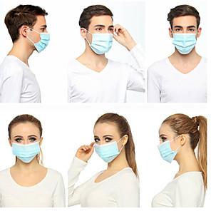 cheap Face Masks-50Pcs Disposable Protective Mouth Masks Earloops CE Certified Face Masks