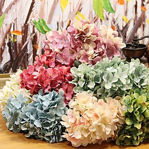 cheap Artificial Plants-1PC High-End 6 Branches 8 Colors Retro Simulation Hydrangea Fake Flower Bouquet Silk Flower Home Wedding Holding Decorative Flowers