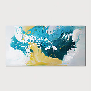 cheap Abstract Paintings-Hand Painted Rolled Canvas Oil Painting Modern Abstract Home Decoration Painting Only