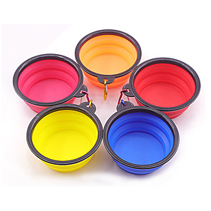 cheap Video Door Phone Systems-Dog Cat Feeders 0.01 L Other Leather Type Foldable Lolita Yellow Red Orange Bowls & Feeding