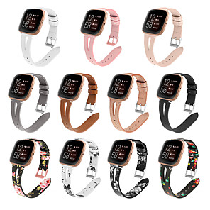 cheap Smartwatch Bands-Fashion Watch Replacement Watch Band for Fitbit Versa 2 Ture Leather Wrist Strap