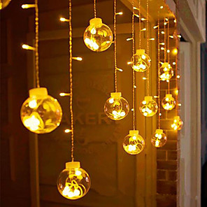 cheap LED String Lights-LED Curtain Light String Copper Wire Wishing Ball Small Ball Bulb Bulb Full Of Stars Holiday Decoration Lamp