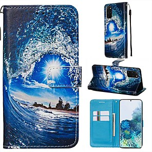 cheap Samsung Case-Case For Samsung Galaxy A90/Galaxy A80/Galaxy A50s Wallet / Card Holder / with Stand Full Body Cases Scenery PU Leather For Galaxy A51/A71/S20/S20 Plus/S20 Ultra/A10S/A20S/A30S
