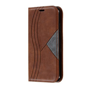 cheap iPhone Cases-Case For  iPhone 11 / iPhone 11 Pro / iPhone 11 Pro Max Wallet / Card Holder / Shockproof Full Body Cases Geometric Pattern PU Leather Case For  iPhone XS Max / XR / X / 8 Plus / 7 Plus / 6S Plus / 6S