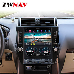 cheap Car DVD Players-ZWNAV 12.1inch 1din 4GB 64GB Android 8.1 Tesla style Car GPS Navigation Car multimedia Player Car MP5 Player radio tape recorder For TOYOTA Land Cruiser Prado 150 2014-2017