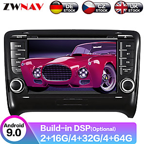 cheap Synthetic Lace Wigs-ZWNAV 7inch 2din Android 9 Car CD DVD Player Car MP5 Player Car GPS navigation Car multimedia player tape recorder auto stereo IPS For Audi TT 2006-2014
